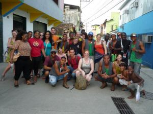 Cultural Warrior Delegation in the favelas in Rio, Brazil